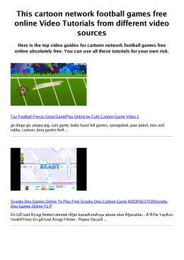 Z cartoon network football games free online PDF video