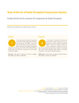 State-of-the-Art of Audio Perceptual Compression Systems I E