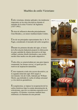 Muebles de estilo Victoriano