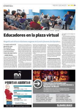 Educadores en la plaza virtual