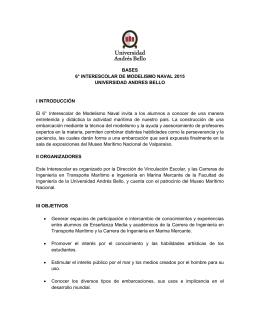 BASES 6° INTERESCOLAR DE MODELISMO NAVAL 2015