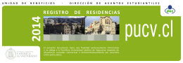 Registro de Residencia - Pontificia Universidad Católica de