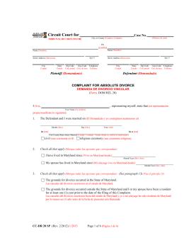 Job # 10186-CCDR020SP-Complaint