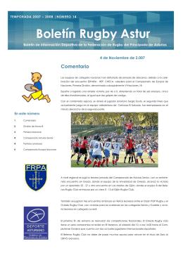Boletín Rugby Astur - Federación de Rugby del Principado de Asturias