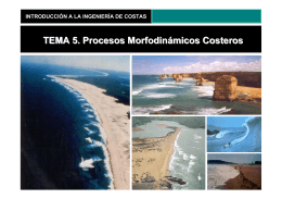 TEMA 5. Procesos Morfodinámicos Costeros