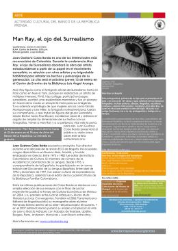 Conferencia-ManRay el ojo del Surrealismo