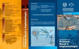 Prótesis Bucal e Implantología - Facultad de Odontología