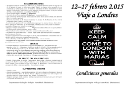 12–17 febrero 2.015 Viaje a Londres