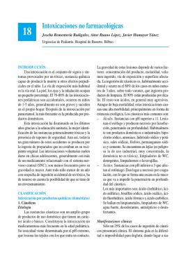 Intoxicaciones no farmacológicas - Asociación Española de Pediatría
