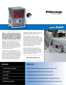 MS6520 Cubit® Cubit® es un lector de código de barras