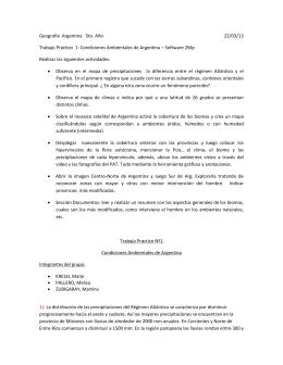 Producción Taller Condiciones Ambientales de Argentina