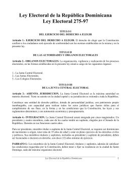 Ley Electoral de la República Dominicana