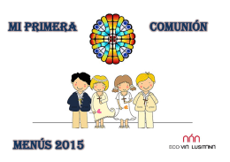 Menús 2015 COMUNIÓN MI PRIMERA
