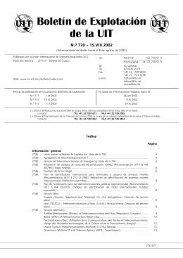 Boletín de Explotación de la UIT No 770
