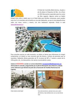 El Hotel de 4 estrellas Bahía Serena, situado a pie
