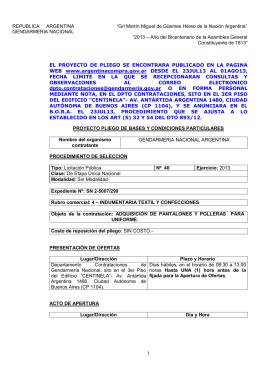 lic pub 40/2013 - Gendarmería Nacional Argentina