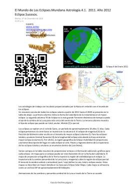 El Mundo de Los Eclipses.Mundana Astrología.4.1