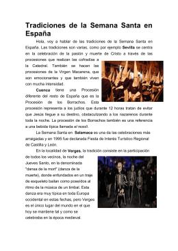 Tradiciones de la Semana Santa en España