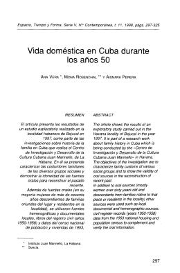 Vida doméstica en Cuba durante los años 50 - PUC-SP
