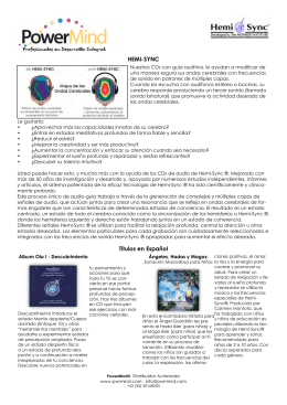 HEMI-SYNC Títulos en Español