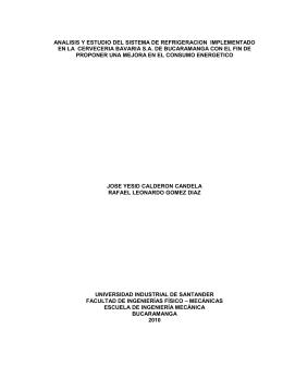 analisis y estudio del sistema de refrigeracion implementado en la