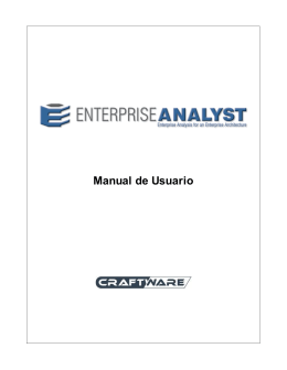 Manual de Usuario Enterprise Analyst