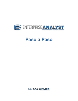 EAn paso a paso  - Enterprise Analyst by Craftware