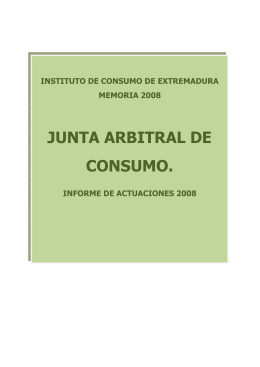 3. Junta Arbitral de Consumo - Instituto de Consumo de Extremadura