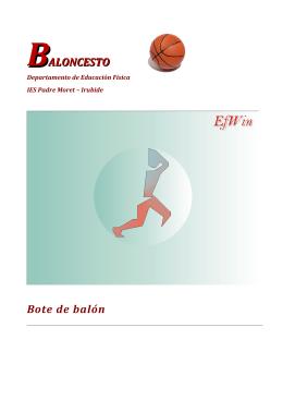 BALONCESTO Bote de balón