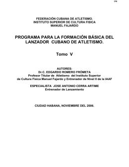FEDERACIÓN CUBANA DE ATLETISMO