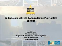 Encuesta Sobre la Comunidad de Puerto Rico