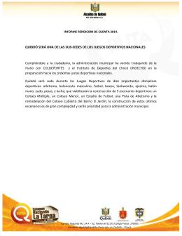 Informe Rendición de Cuentas II