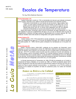 Escalas de Temperatura - MetAs & Metrólogos Asociados