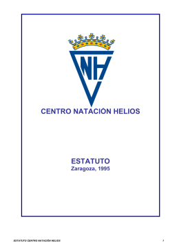 Estatuto del Centro - Centro Natación Helios