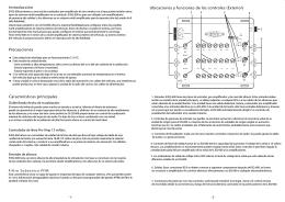 Introducción Características principales Precauciones Ubicaciones