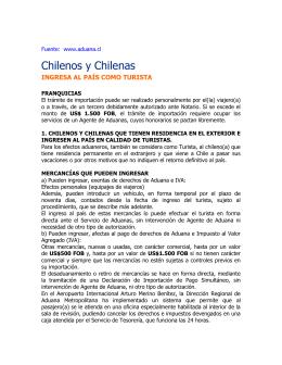 Información Aduanera para chilenos que
