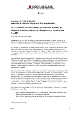 141015 A135 La Asociación de Policía de Gibraltar y