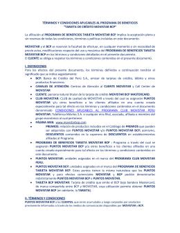 TARJETA DE CRÉDITO MOVISTAR BCP