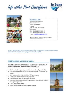 Info utiles Port Cassafières