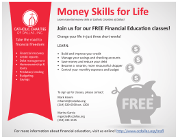 Money Skills for Life - Catholic Charities of Dallas