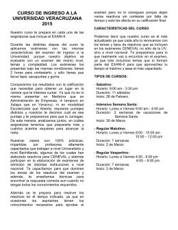 curso de ingreso a la universidad veracruzana
