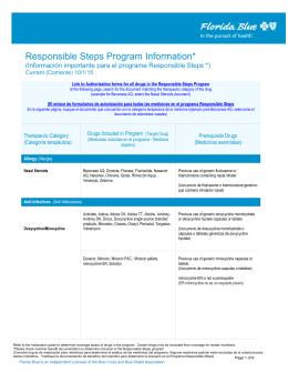 Responsible Steps Program Information*