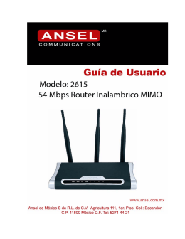 MIMO XR™ Wireless Broadband Router
