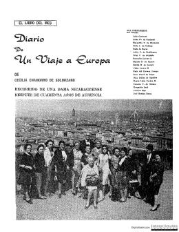 Diario de un viaje a Europa - Revista Conservadora