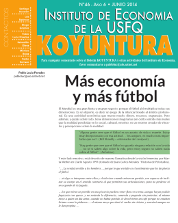 Más economía y más fútbol