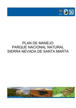 Plan de Manejo PNN Sierra Nevada de Santa Marta