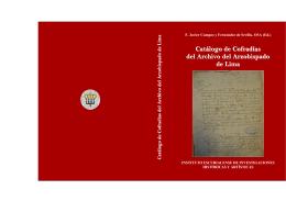 Catálogo de Cofradías del Archivo del Arzobispado de Lima