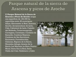 parque natural de la sierra de Aracena y picos de Aroche ppt