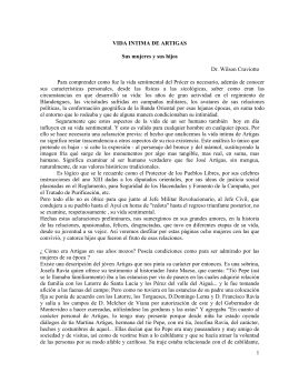 VIDA INTIMA DE ARTIGAS - La Biblioteca Artiguista