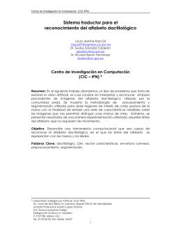 Sistema traductor para el reconocimiento del alfabeto dactilológico